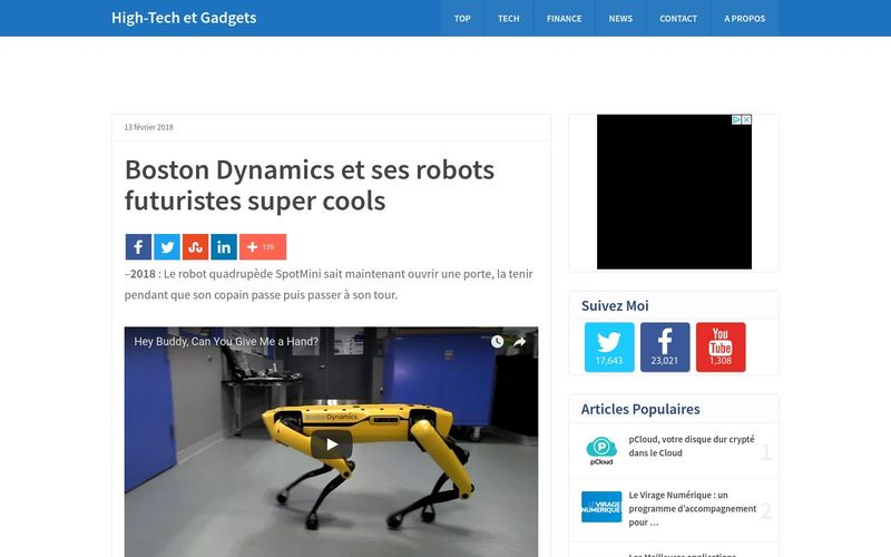 Boston Dynamics et ses robots futuristes super cools